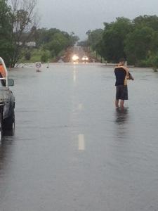 Flooding at Hardy's Creek