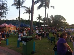 Crowds at Mindil Beach Markets