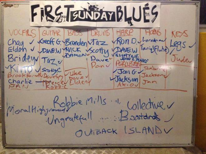 First Sunday Blues Board